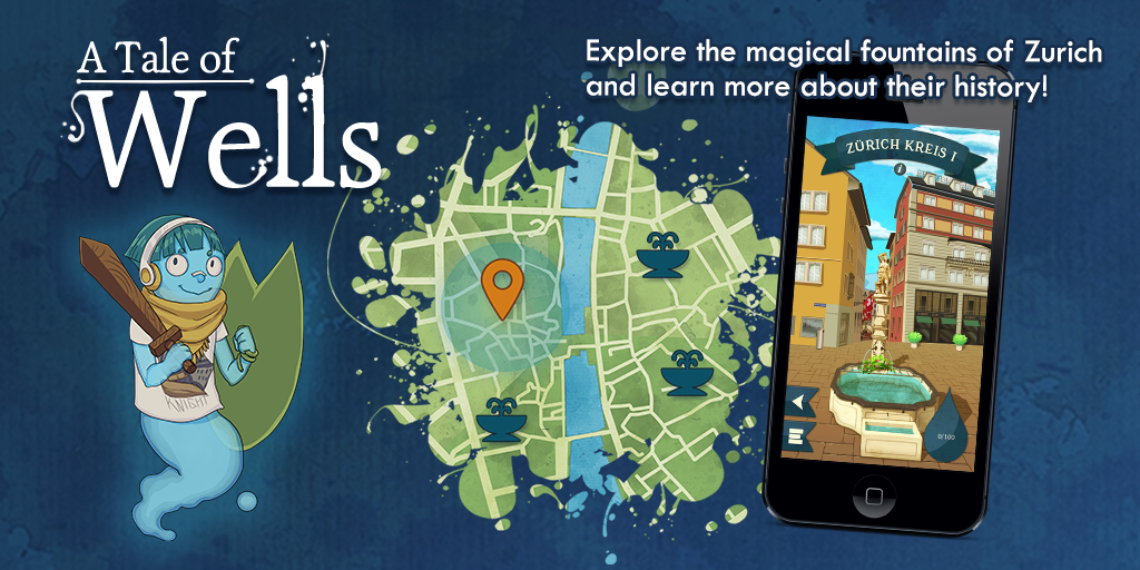The product cover image of A Tale of Wells: Explore the magical fountains of Zurich and learn more about their history!